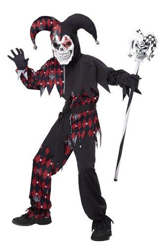 disfraz arlequín bufón jester niño halloween talla 12 a 14