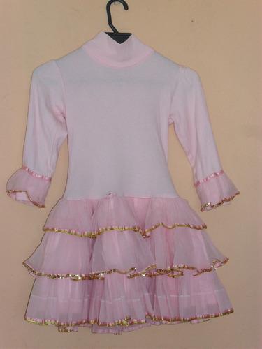disfraz bailarina o princesa rosado para niña 4 a 6 años