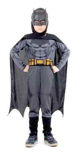 disfraz batman negro con musculos capa y botas sulamericana