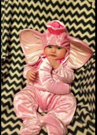 disfraz bebe elefante, t 18 a 24 meses. envio gratis