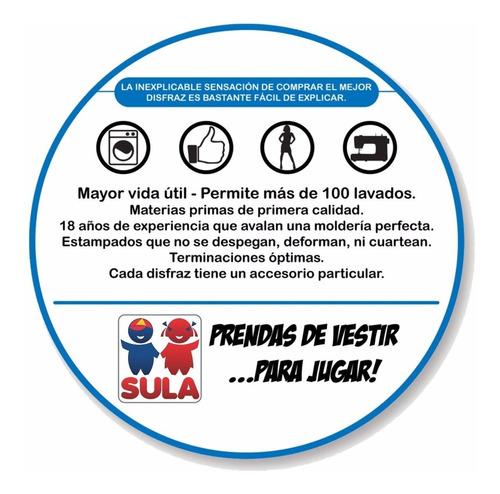 disfraz boca juniors remera con capa oficial sulamericana