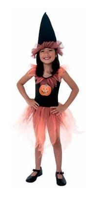 disfraz brujita calabaza halloween