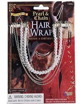 disfraz cadena de perlas y abrigo de pelo