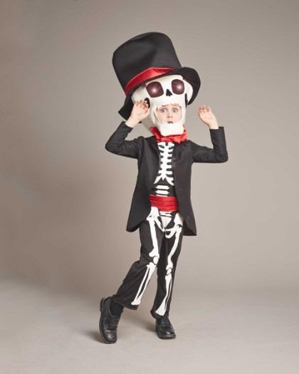 Disfraz Calavera Halloween Dia De Muertos Talla 6 A 16 Cluz