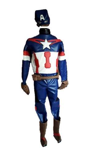 disfraz capitán américa vinipiel adulto