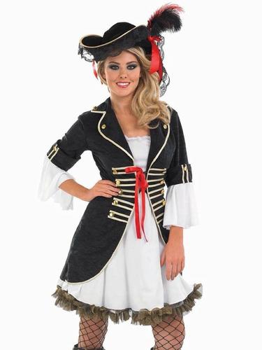 disfraz capitana pirata talla m/g ajustable