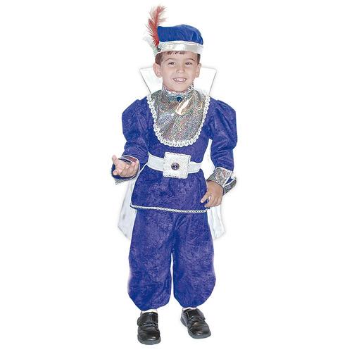 disfraz carnavalito príncipe azul niño talla: 04-06