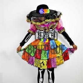 Disfraz Catrina Adulto Dama Premium No Incluye Mallas