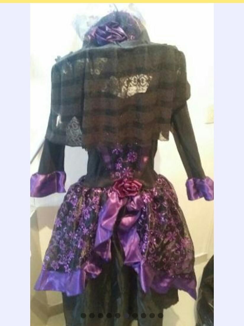 Disfraz Catrina Con Sombrero Alta Costura Envio Gratis -   860.00 en ... 68222807a8d