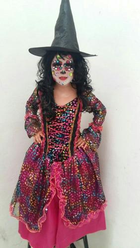 disfraz catrina dia de muertos halloween niñas