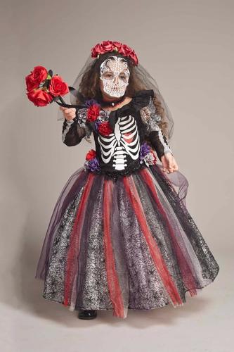 disfraz catrina niña halloween dia muertos esqueleto
