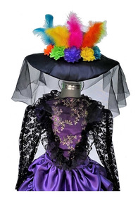 Disfraz Catrina Vestido Talla 14 Años Sombrero Decorado