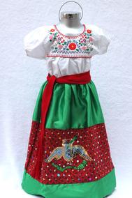 Disfraz China Poblana Regional México Fiestas Patrias Dama
