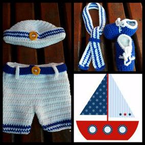 20a9c8de064 Disfraz Crochet Bebe Marinero. Book De Fotos.
