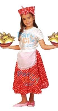 disfraz dama antigua fiestas patrias super económico l 4-5