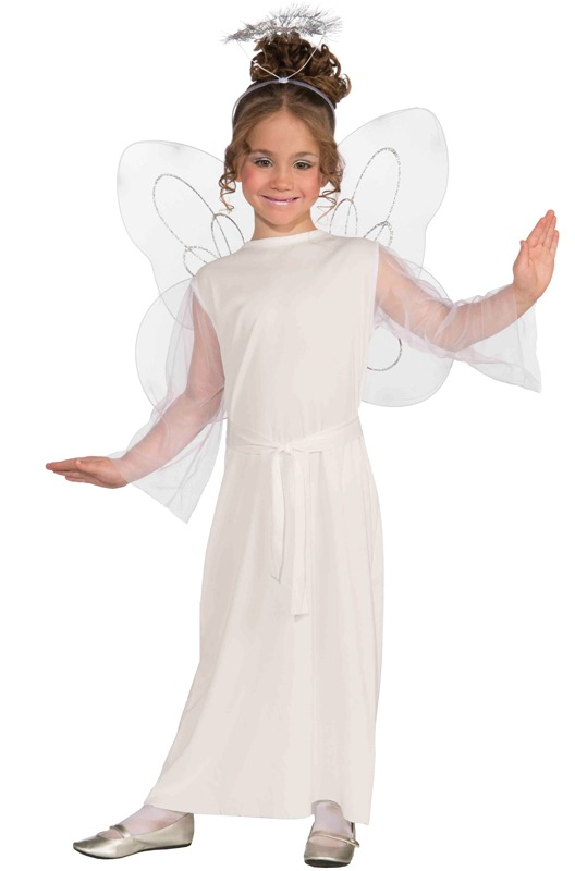 Disfraz De ngel Blanco Forum Novelties Para Nia Talla L 42154