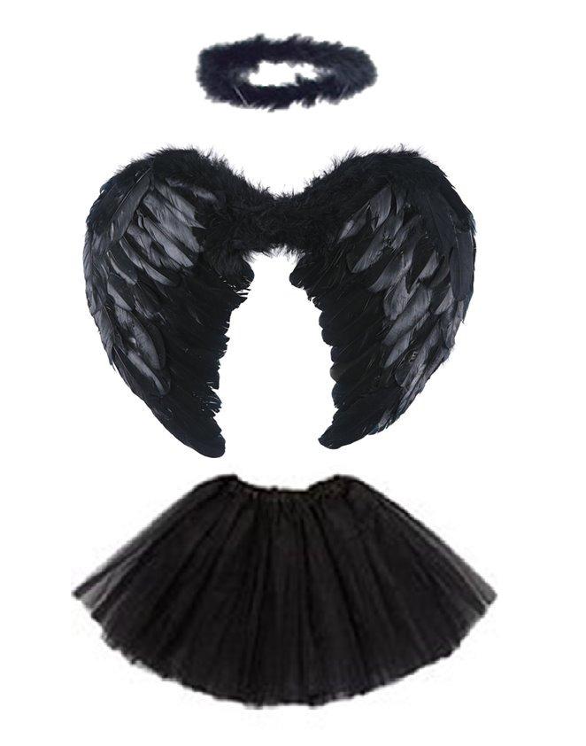 7cae5ccdbd53 disfraz de angel caido o negro con aro tutu blusa y choker. Cargando zoom.
