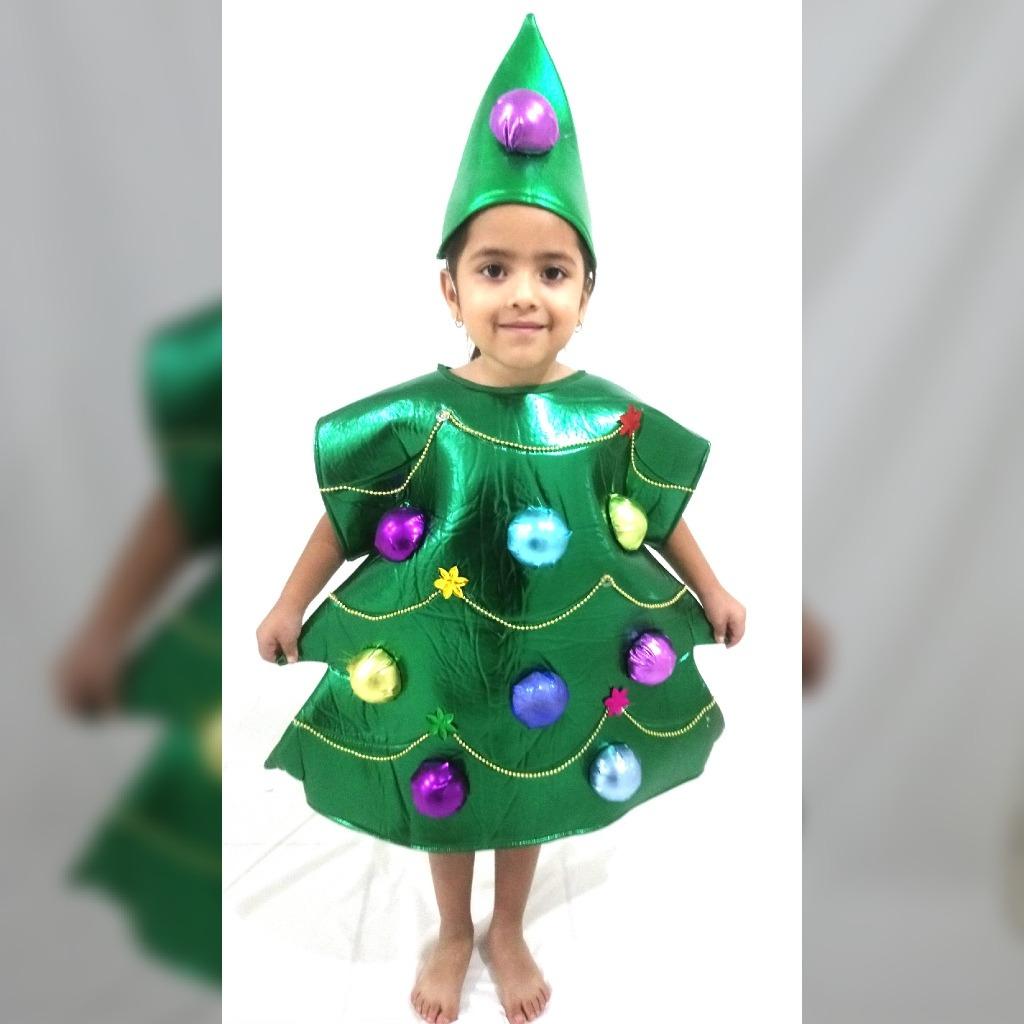 Disfraz de rbol de navidad para ni o y ni a en - Disfraz navideno nina ...