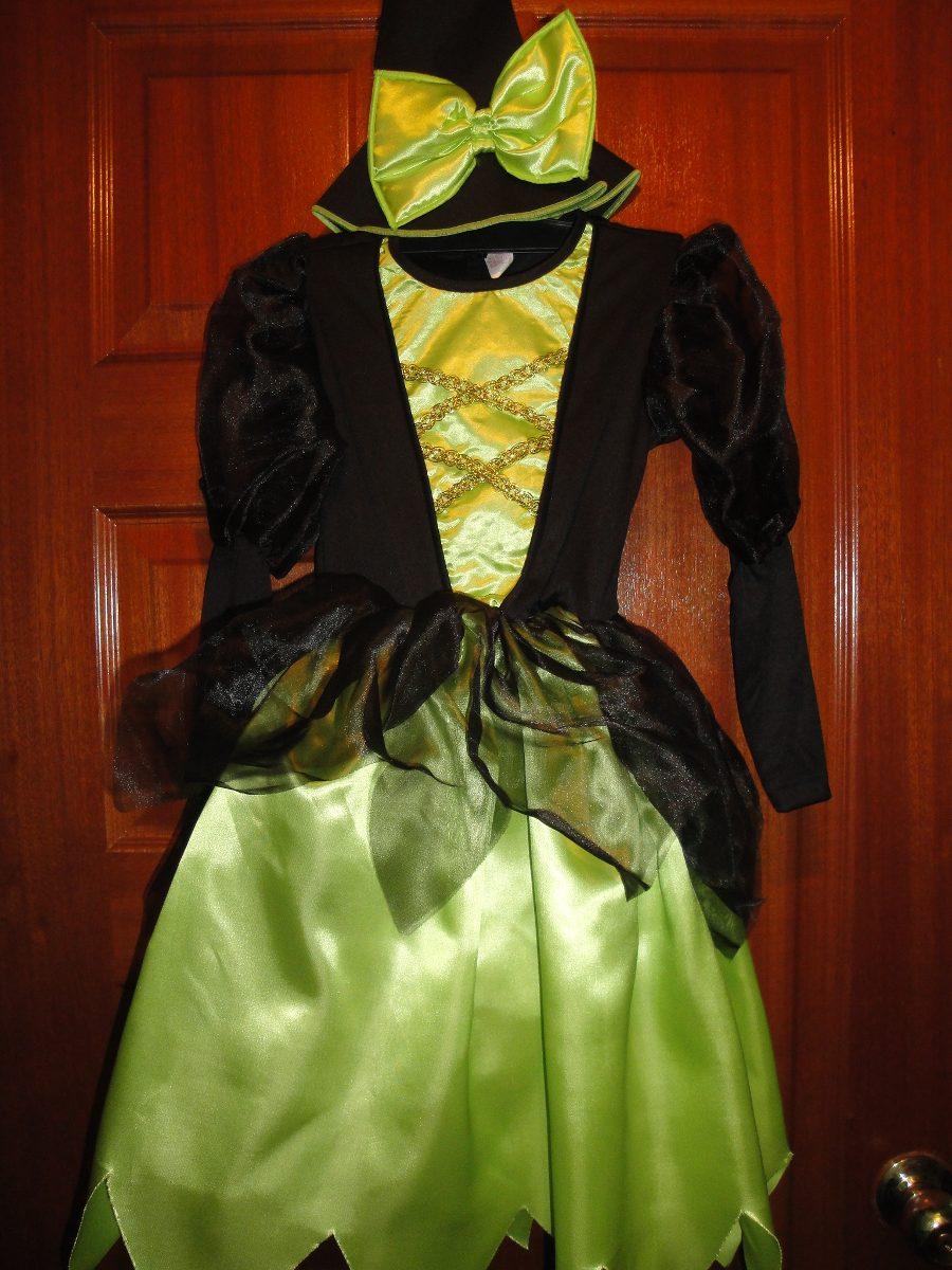 Disfraz De Bruja Elegante Color Verde Para Niñas - Bs. 2.500.000,00 ...