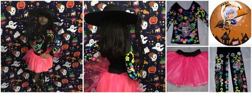 disfraz de catrina neon halloween