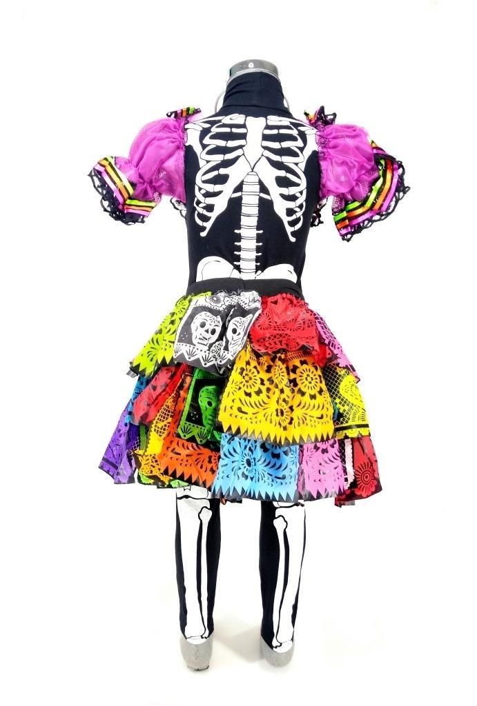 Disfraz De Catrina Niña Halloween Vestido Talla 8 10