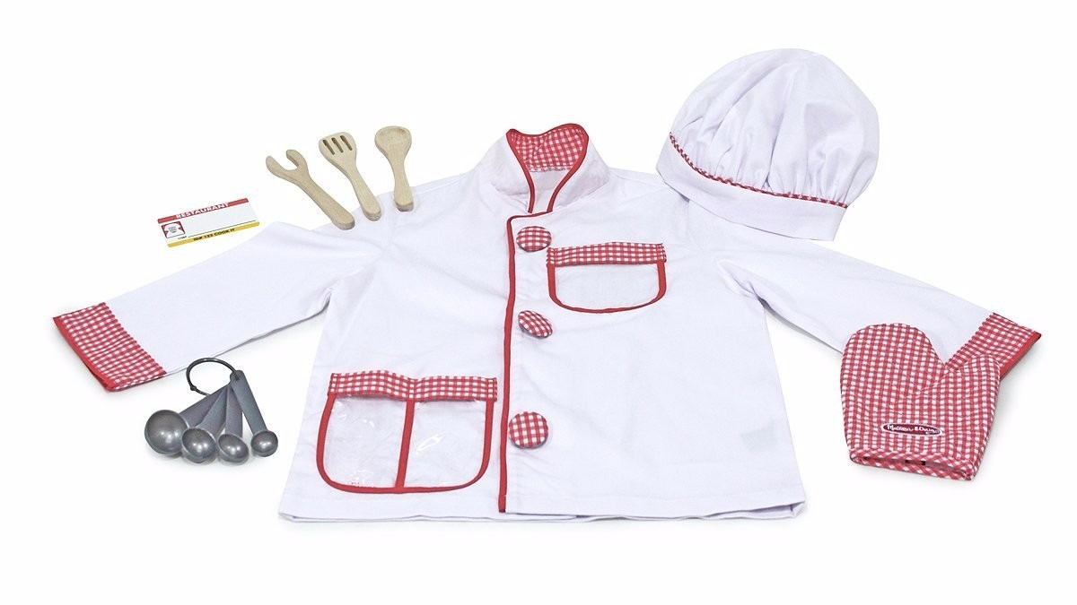 Disfraz de chef cocinero para ni os accesorios incluidos for Accesorios para chef