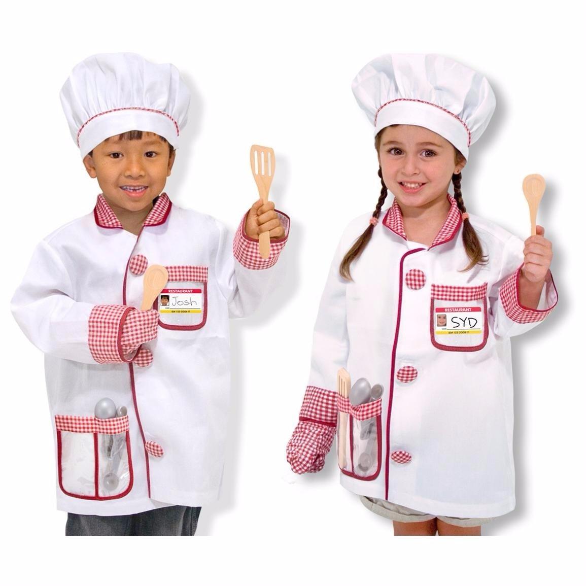 Disfraz de chef cocinero para ni os accesorios incluidos for Articulos de chef