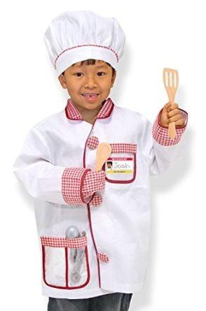 disfraz de chef melissa & doug traje niño niña juego 3 a 6