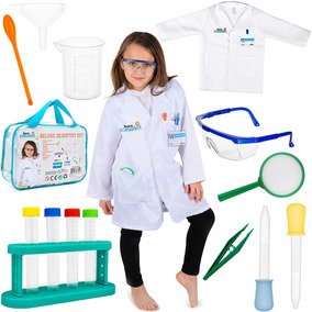 De Cientifico Born Toys Niños 15 Piezas Set Disfraz Para A3Rj54L