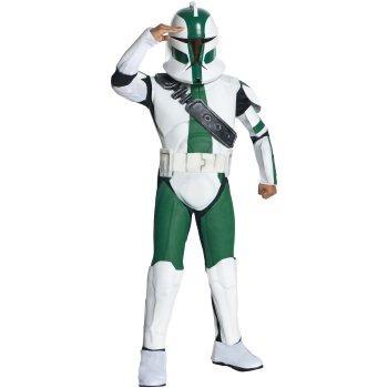 disfraz de clone trooper gree de star wars para niños