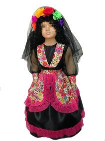 Disfraz De Coco Catrina Día De Muertos Catrin Para Niña