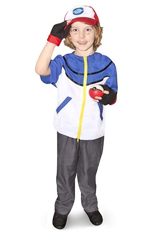 Disfraz De Cosplay De Ash Ketchum Para Niños Con Gorra Y Gor ... 41fe1f7ec222