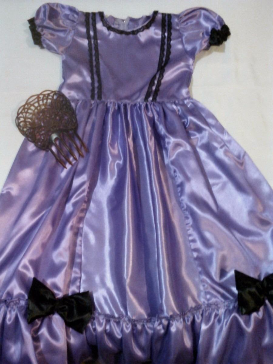 Disfraz De Dama Antigua C/ Accesorios Negrita Etc Escolares - $ 590 ...