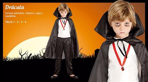 disfraz de drácula niño talle 2