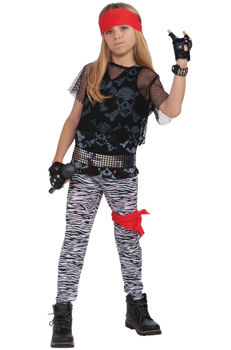 Disfraz De Estrella De Rock Años 80 Forum Novelties P/niño S - $ 727.68 en Mercado Libre