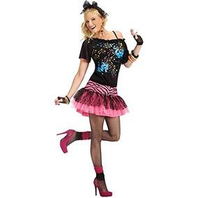 Disfraz De Fiesta Para Mujer Pop De Los 80 Pequeno Medio