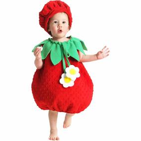 f0ece8af4 Disfraz De Fresa Para Niña, Talla 18m-2t - Halloween