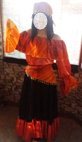 399180e6f Disfraz De Gitana Para Mujer Talle M/ L Teatro Fiestas