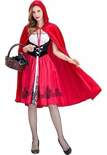 disfraz de halloween de caperucita roja para mujer con vesti