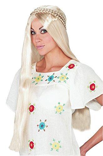 disfraz de halloween de la peluca de la muchacha del hippie