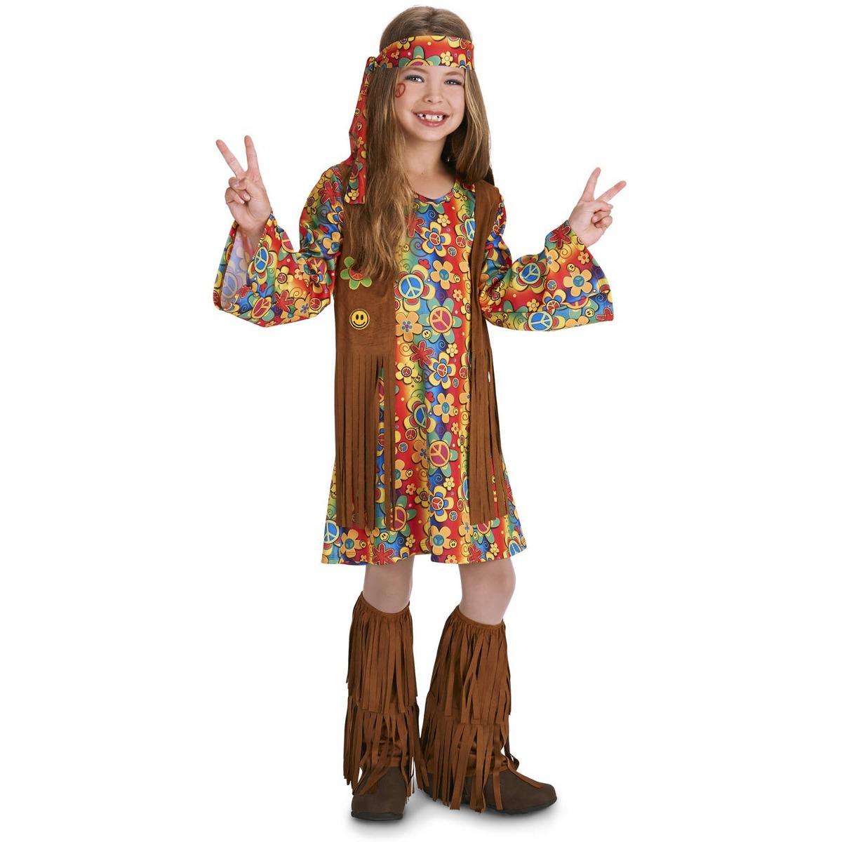 disfraz de hippie con flecos de los 60 p niños en halloween
