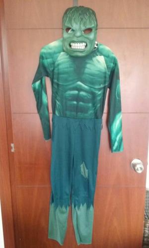 disfraz de hulk talla 8 - original buen estado