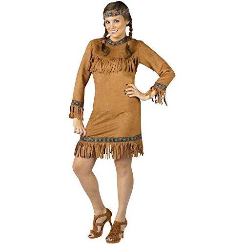 Disfraz De Indio Nativo Americano Femenino De Talla Grande P - Disfraz-india-americana