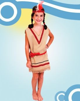 disfraz de indio - talles del 2 al 12