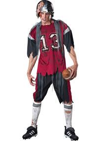 ebe68d293 Disfraz De Jugador De Fútbol Zombie Para Adulto Talla M