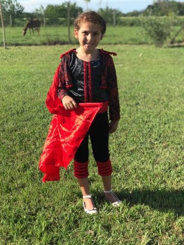 disfraz de lujo torera española  talle 8 años 4 piezas