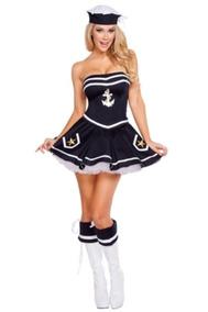 dfeab7663 Disfraz De Marinera Sexy Para Mujer, Talla: M/l, Halloween