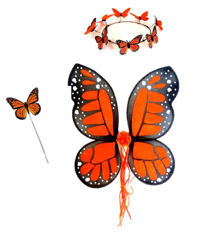 disfraz de mariposa monarca alas tiara nia primaver cosplay