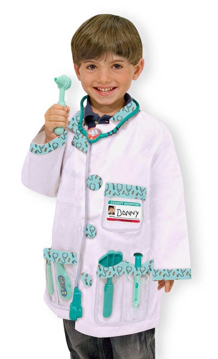 Disfraz De Médico Melissa   Doug Traje Niño Niña Juego 3 A 6 ... b112fa97818
