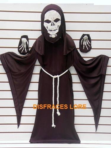 disfraz de monje niños esqueleto huesos muerte calaca scream
